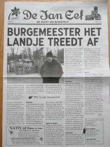 Voorpagina Jan Eef krant